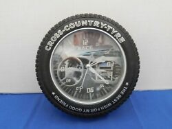 Vtg Tire Race Wall Clock Cross Country Tyre The Best Wish For My Good Friends