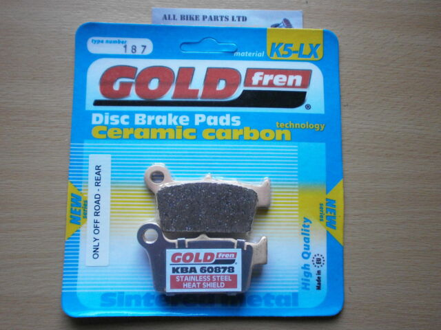 SINTERED (OFF-ROAD) REAR BRAKE PADS For: YAMAHA WR 250 (2004-2005) WR250
