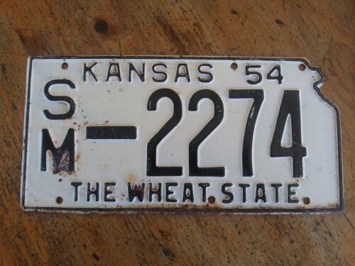 1954 KANSAS LICENSE PLATE SM-2274