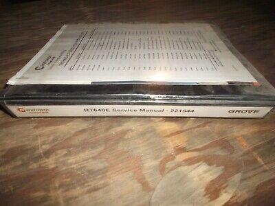 Manitowoc Rt640e Rough Terrain Crane Shop Service Repair Manual