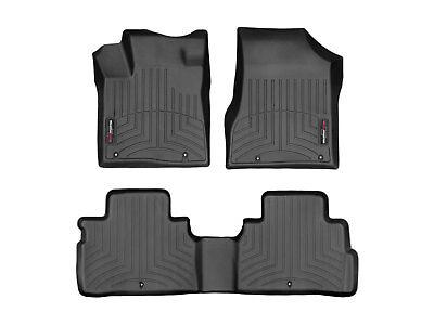 Weathertech Floor Mats Floorliner For Nissan Murano 17 5 18 1St 2Nd Row Black