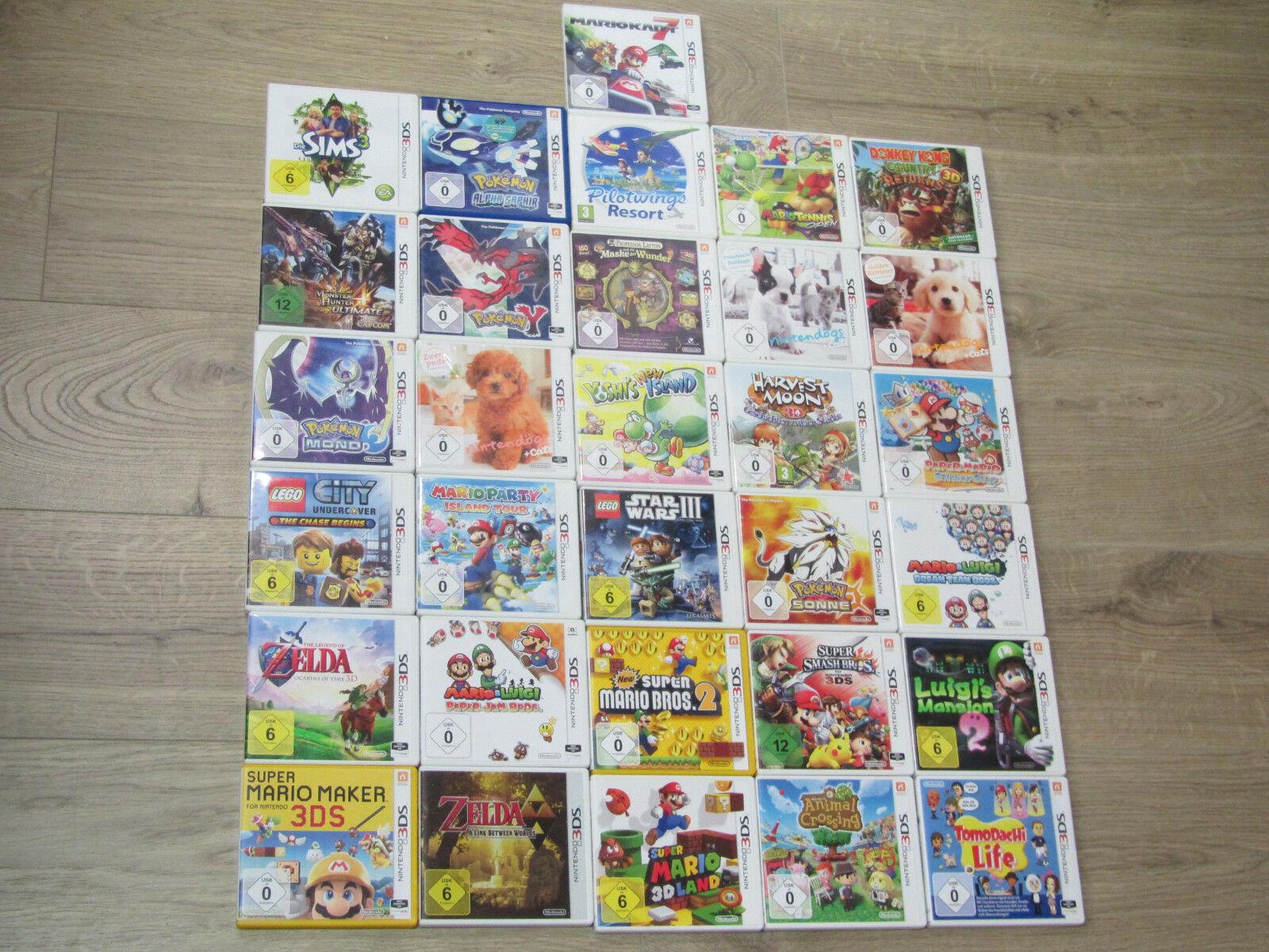 Nintendo 3DS Spiele Zelda, New Mario Kart, Smash Bros. Pokemon, Nintendogs