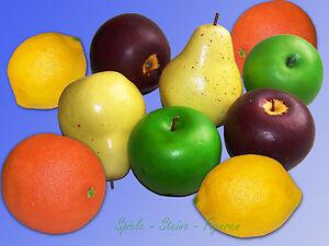 Decorazione Frutta Finta Lampadina Mela Arancione Limone