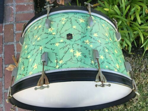 "LEEDY ""AUTOGRAPHS OF THE STARS"" 26X14 BASS DRUM, THE HOLY GRAIL OF FINISHES"