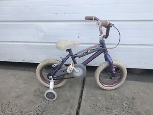 "Little Girls 12"" Bicycle with Training Wheels"