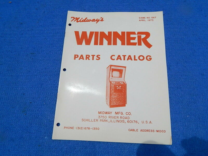 1973 Midway WINNER Parts Catalog