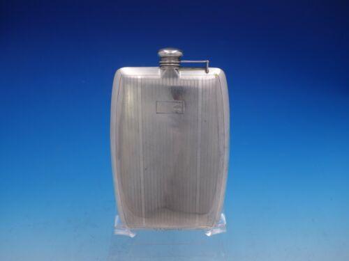 International Sterling Silver Flask 3/4 Pint Capacity Vintage Antique (#4124)
