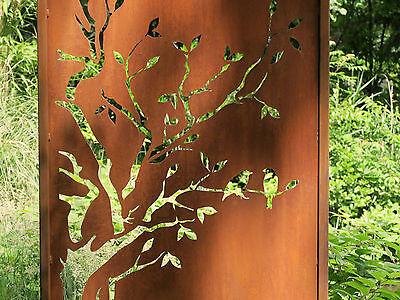 Sichtschutzwand Edelstahl Edelrost Metall Gartenwand