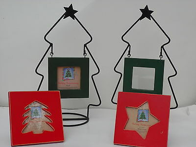 Holiday Homecoming Christmas Photo Frames Set of 4 3x3 inch photos (Holiday Photo Frames)