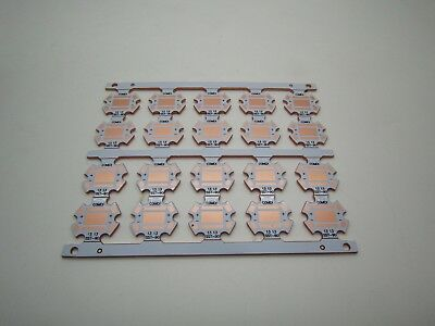 20x Luminus Sst-90 Sst90 Led Copper Heat Sink Base Plate Pcb Circuit Board 20mm