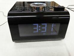 BROOKSTONE IDesign Cube Clock Radio Alarm Clock for iPod and iPhone / Black