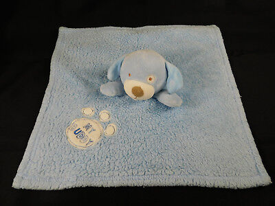 Baby Gear Blue Puppy Dog Security Blanket Lovey My Buddy Paw Print