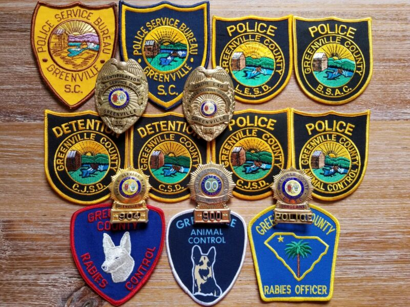 Greenville SC South Carolina County Sheriff Police Patch Badge Lot Obsolete Rare