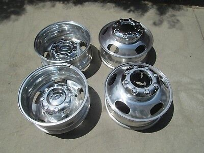 """17"""" FORD F350 DUALLY DUALLIE DRW OEM FACTORY ALUMINUM WHEELS RIMS WITH CAPS A for sale  Shipping to Canada"""