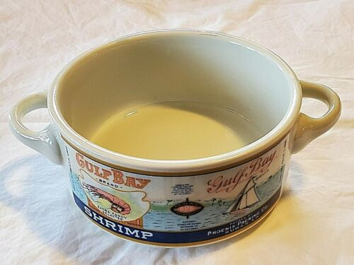 VINTAGE 1987 ARCHIVES OF LOUISIANA TRADE LABELS SOUP BOWL NEW ORLEANS - chipped