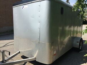 Pace 6x12 enclosed cargo haul utility motorcycle trailer & ramp