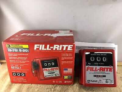Fill-rite Heavy Duty Mechanical Flow Meter 50 Psi Max 1 Inlet 807cl1 - Nob