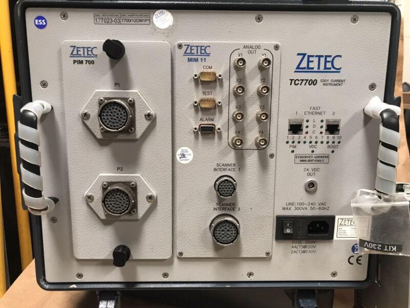 Zetec NDT TC7700 Eddy Current Instrument PIM212 Probes