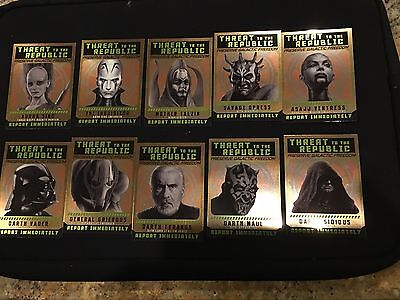 2015 Topps Star Wars Threat Of The Republic Sp Set 1-10 Chrome Perspectives Sp