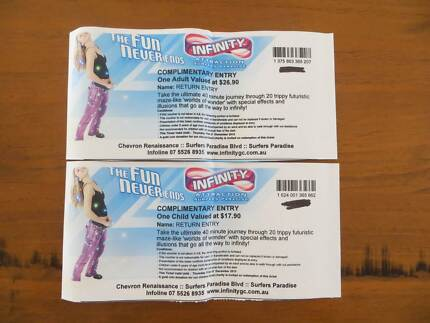 Infinity Surfers Paradise, 1 x Adult, 1 x Child tickets Murrumba Downs Pine Rivers Area Preview