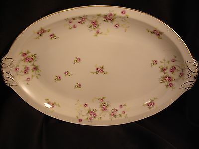 JAPAN 4  Platter Occupied Japan China Scattered Pink Roses Large Platter