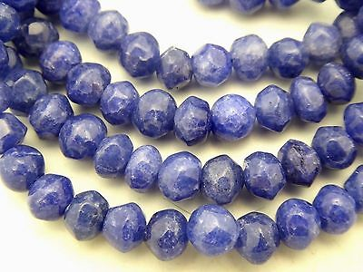 10 Pieces Vintage Style Blue Sapphire Faceted Round Nugget Gemstone 6mm Beads