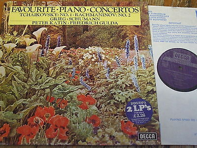 DPA 503/4 Favourite Piano Concertos / Katin / Gulda 2 LP set
