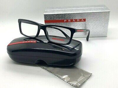 Prada Sport BLACK Eyeglasses PS 02CV 1BO 101 53-17-140mm Italy Demo Lenses (Prada Mens Reading Glasses)