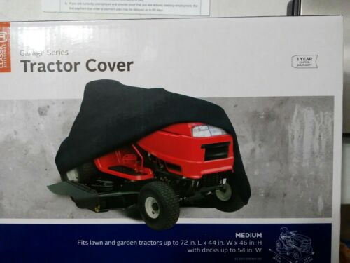 Classic Universal Tractor Cover Black 1 Size Fits Most