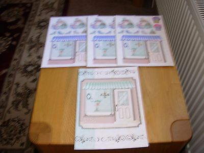 1 x A4 LADIES BOUTIQUE CARD + 3 SHEETS DIE-CUT DECOUPAGE.