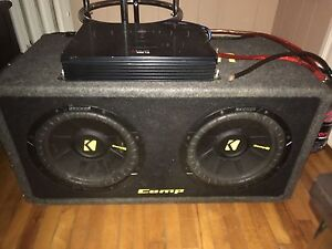 2 10 inch kicker sub with amp