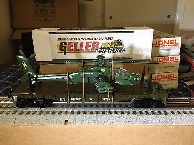 GELLER-MTSI- 62277/ MTW,  U. S.  ARMY FLAT CAR with HELICOPTER NIB. WOW !!