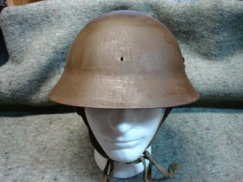 WWII Japanese Civil Defense Helmet w/ makers label,  not Type 4, Gunto, Nambu