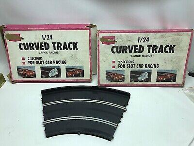 2 Boxes Of Vtg Slot Car 1/24 Curve Track 9557 RC LOT Marx Toys for sale  Harleysville