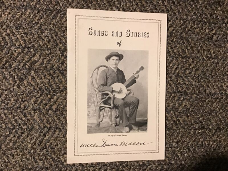 Songs & Stories of Uncle Dave Macon 1938 WSM Grand Ole Opry Banjo Country Music