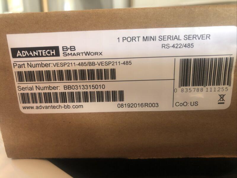 B+B SmartWork VESP211-485/BB-VESP-485, 1 Port Mini Serial Server, RS-422/485