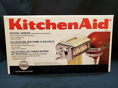 NEW IN BOX Kitchen Aid Stand Mixer Ravioli Maker Attachment Williams Sonoma Tag