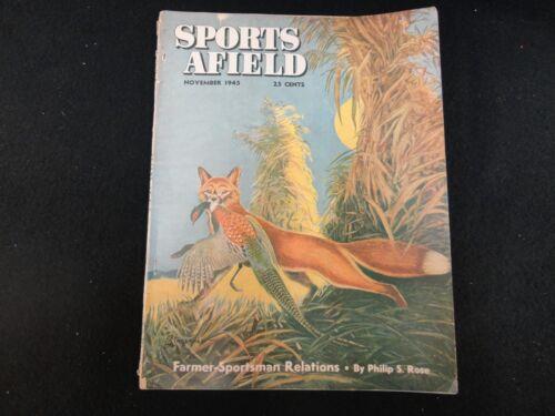 Sports Afield Magazine November 1945 Vintage Issue- Free Shipping!