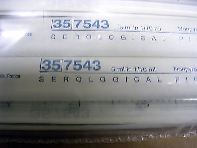Becton Dickerson Falcon Model 35 7543 5ml Serological Pipet New