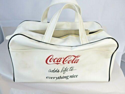 Vintage Coca Cola Vinyl Travel Tote Bag Coke Advertising Travel Bag