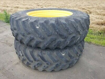 20.8r 42 Armstrong Set Of 2 John Deere Wheels Tires W
