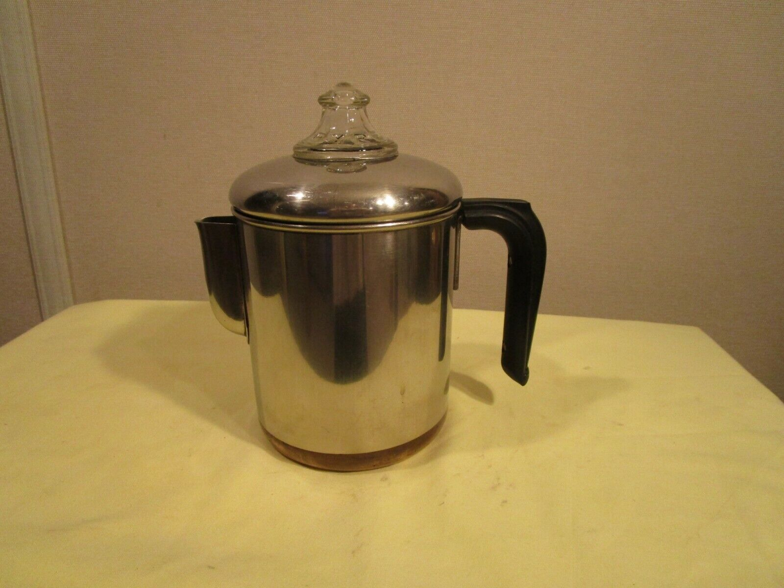 VINTAGE REVERE WARE 1801 COFFEE POT STOVE TOP COPPER CLAD PE