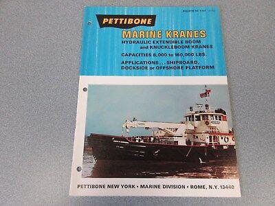 Rare Pettibone Hydraulic Marine Kranes Sales Brochure