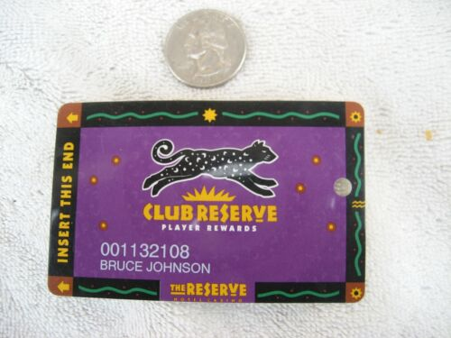 Club Reserve casino player rewards card circa 1998 Henderson (Las Vegas) Nevada
