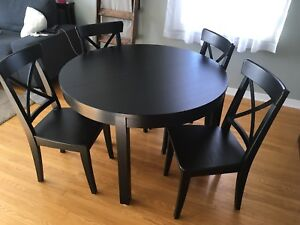 Ikea Bjursta Dining Table And Ingolf Chairs