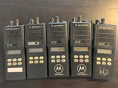 5 X Motorola Mts2000 Model Ii Portable 2 Way Radio