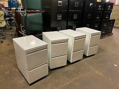 Mobile Filefile Pedestal By Haworth Office Furniture In White W Lock Key