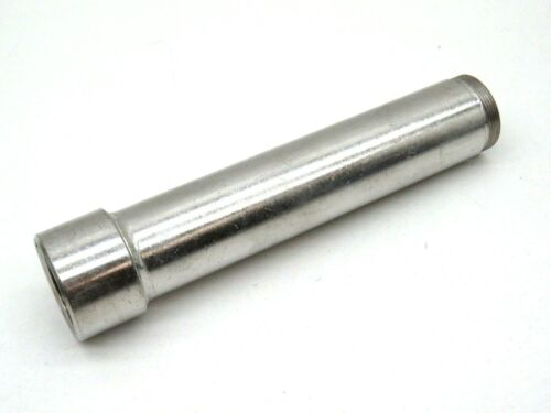 "SMS Swedish 1"" Threaded Extension Sanitary Pipe Tube, Stainless Steel, 5-3/4"""