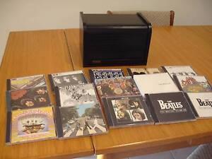 Beatles 16 CD Black Wooden Bread Box Collection Mount Annan Camden Area Preview
