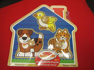 Melissa & Doug 2055 - Jumbo Knob Puzzle - House Pets - Ages 1+